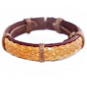 Кожаный браслет Пират Карибского Моря коричневый