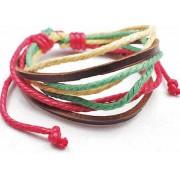 Веревочный кожаный браслет Вера