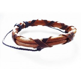 Кожаный плетеный браслет Геракл