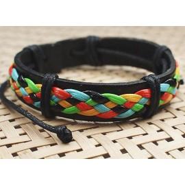 Кожаный плетеный браслет Хиппи