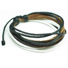Веревочный кожаный браслет Верона