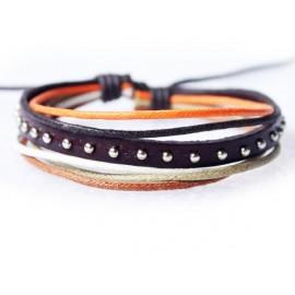 Кожаный браслет Мечта коричневый