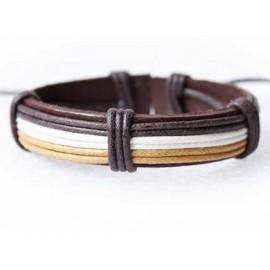 Кожаный браслет Артефакт коричневый