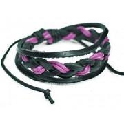 Кожаный плетеный браслет Мекка