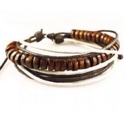 Веревочный кожаный браслет Чётки
