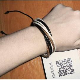 Веревочный кожаный браслет Неаполь