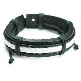Кожаный плетеный браслет Джек Воробей