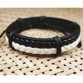 Кожаный плетеный браслет Шахеризада