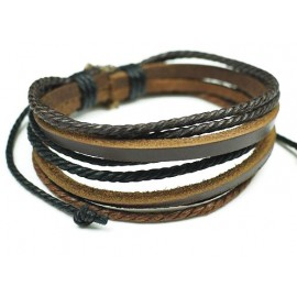Веревочный кожаный браслет Орешник