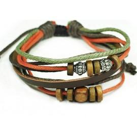 Кожаный браслет Клевер