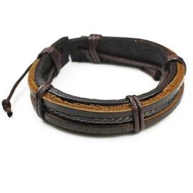 Кожаный плетеный браслет Клеопатра