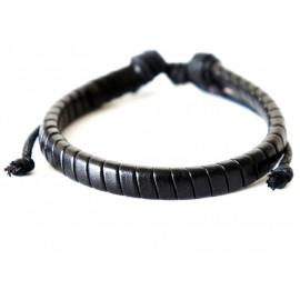 Кожаный плетеный браслет Штурман
