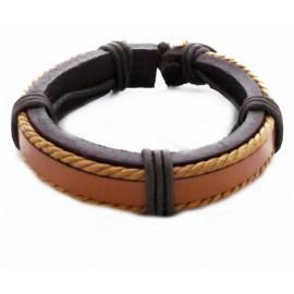 Кожаный плетеный браслет Сумерки коричневый