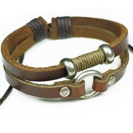 Кожаный браслет Кольцо Силы