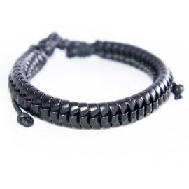 Кожаный плетеный браслет Эквилибриум