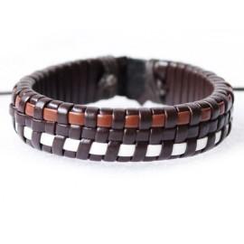 Кожаный плетеный браслет Тропикана