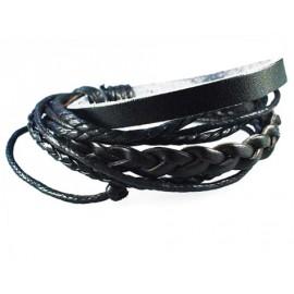 Кожаный плетеный браслет Козырный Туз