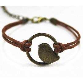 Женский стильный браслет Ларксфут Птенец коричневый