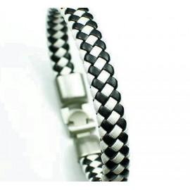 Кожаный плетеный премиум браслет Шахматы