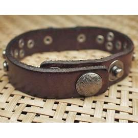 Кожаный премиум браслет Нью Йорк коричневый