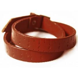 Кожаный оригинальный премиум браслет Линейка