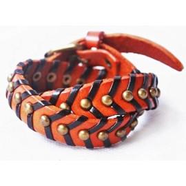 Кожаный оригинальный премиум браслет Фрейд коричневый