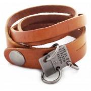 Кожаный премиум браслет Техас рыжий