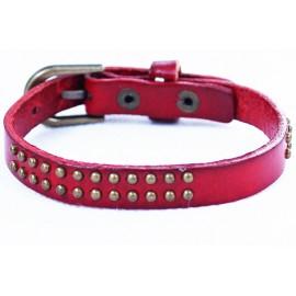 Кожаный оригинальный премиум браслет Лас-Вегас красный