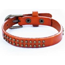 Кожаный оригинальный премиум браслет Лас-Вегас рыжий