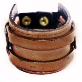 Кожаный широкий премиум браслет Горец