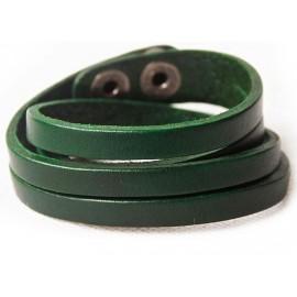 Кожаный оригинальный премиум браслет Фор зеленый