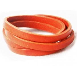 Кожаный оригинальный премиум браслет Фор оранжевый