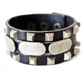 Кожаный широкий премиум браслет Самурай