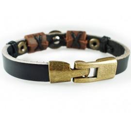 Кожаный оригинальный премиум браслет Удача в Жизни