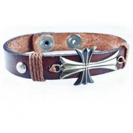 Кожаный оригинальный премиум браслет Магический Крест