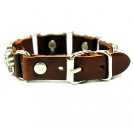 Кожаный оригинальный премиум браслет Черепа