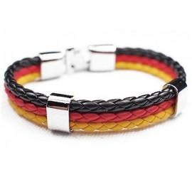 Кожаный плетеный яркий премиум браслет Германия