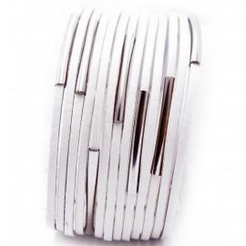Кожаный широкий премиум браслет Токио белый