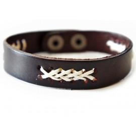 Кожаный оригинальный премиум браслет Коста-Рика коричневый