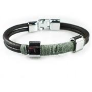 Кожаный плетеный премиум браслет Неаполь