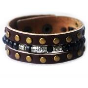 Кожаный широкий премиум браслет Фантагиро