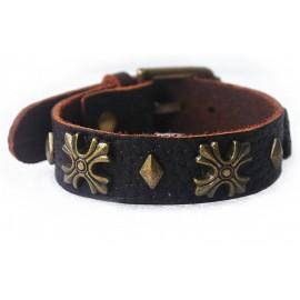 Кожаный оригинальный премиум браслет Граф