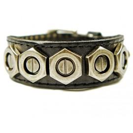 Кожаный оригинальный премиум браслет Болт
