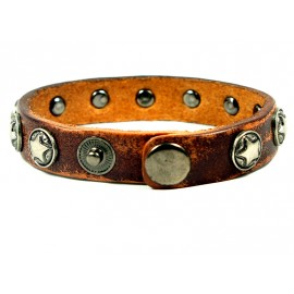 Кожаный оригинальный премиум браслет со звездами Созвездие