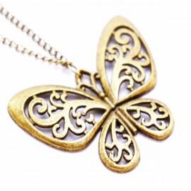 Кулон из металла Бабочка - украшение на шею
