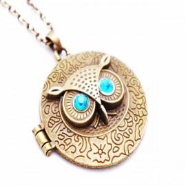 Кулон из металла Медальон Сова - украшение на шею