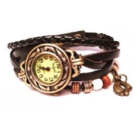 Женские винтажные часы кожаный браслет с часами Ретро коричневый